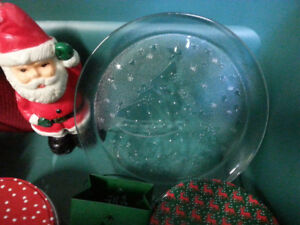 Christmas contents and rubber made storage container