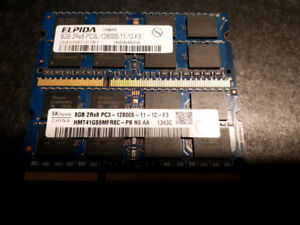 2x8GB DDR3 1600MHz 12800S Laptop Ram, $50obo