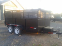 (WHOLESALE) PRICES  7X12 NEW DUMP TRAILERS 10000 POUNDS