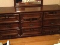 Solid Wood Double Bed set.