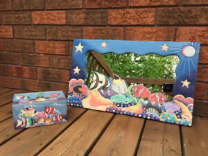 Coral Reef Themed Mirror and Box Set