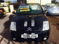 2006 Citroen C2 1.4i Design Metallic black Alloys Low Mileage