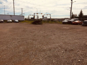YARD FOR LEASE / RENT 25000 SQ FT  (184' X 135') SECURE FENCED