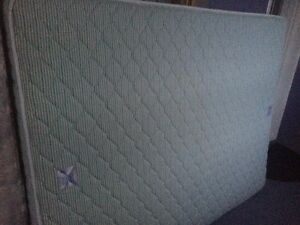 Queen mattress and box spring in good condition