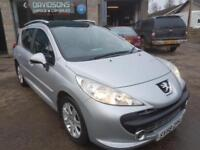 2008 Peugeot 207 SW 1.6HDI winter tyres!!!!!! £30 tax per year!!!!
