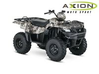 2016 Suzuki KINGQUAD 750AXI POWER STEERING CAMO - 39,60$/SEMAINE
