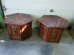 Pair of Vintage End Tables - Delivery