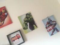 3 marvel wall canvas