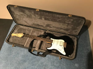 Left Handed Electric Guitar and Case