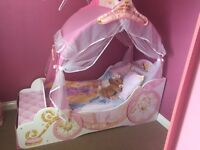 Child's Disney Princess Carriage bed and Wardrobe