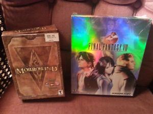 FF VIII & Elder Scrolls Morrowind for PC (physical copies)