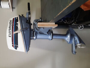 1978 evinrude 4 hp out board works good