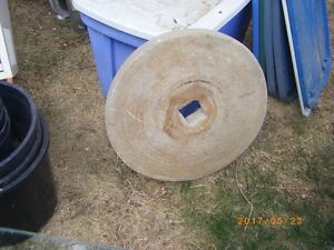"""ANTIQUE SHARPENING GRINDING STONE WHEEL ONLY 19""""X2 1/4"""""""