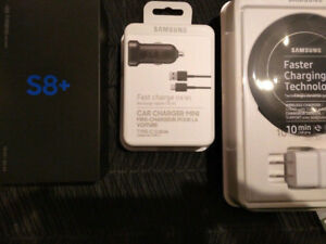 *BRAND NEW SAMSUNG GALAXY S8+ WITH CHARGING DOCK & CAR CHARGER*