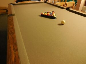 Dufferin Slate Pool Table with new felt