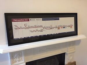 London Underground Tube Map Carriage Line Diagram Metropolitan Line 2012