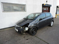 12 Vauxhall Corsa 1.4i Auto SE Damaged Salvage Repairable Cat D