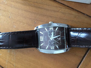 Men's Guess watch leather strap