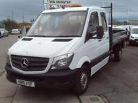 Mercedes-Benz Sprinter 313cdi Double Cab Tipper 130ps DIESEL MANUAL WHITE (2015)