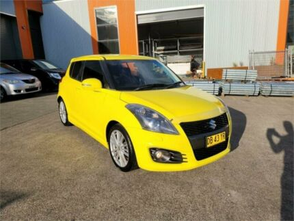 2012 Suzuki Swift FZ Sport Yellow 7 Speed Constant Variable Hatchback Cardiff Lake Macquarie Area Preview