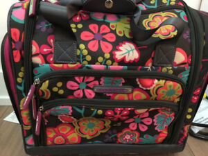 SUPER CUTE LILY BLOOM UNDERSEAT BAG ROLLER LUGGAGE (USED TWICE)