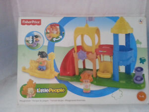 new fisher price little people playground & aquarium visit