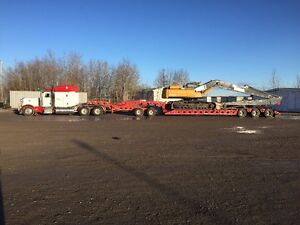 Low Bed Heavy Haul Services RGN Double Drop jeep and Booster Edmonton Edmonton Area image 2