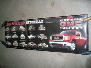 Poster / Affiche GMC Sierra 2007 + evolution 1936-2007 West Island Greater Montréal image 2