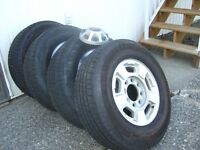 17 INCH RIMS AND TIRES OFF 2011 GMC SIERRA