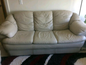 Very comfy 3 seater Leather Sofa - excellent condition