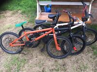 Bmx freestyle / stunt bikes x3 need work £40 lot