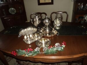 Silver plated items as shown