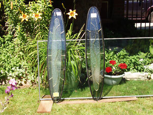"""GLASS, HAND CRAFTED DOUBLE GLASS 9 """" X 42 """"."""