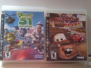 Lot de 2 jeux playstation 3 de film d animation 15$ pour 2