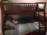 Solid wood bunk beds - $400 firm