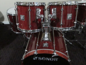 Sonor Hilite,  Maple,  6 pc.  Drum Kit,  Like New Condition.