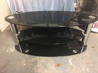 Oval Smoked Glass TV Stand