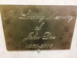 Custom Metal Memorial Plaques