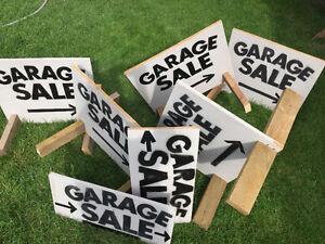 Great Solid All Wood Garage Sale Signs