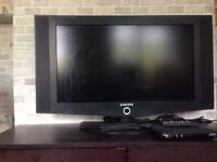 """Samsung 32"""" LCD TV with freeview box none HD"""