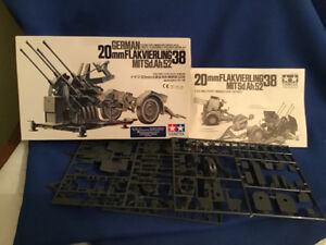 Tamiya German 20mm Flakvierling 38 Model gun in box