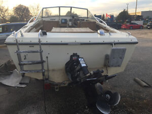 Tempest runabout 17ft with trailer sea ray bayliner bowrider London Ontario image 4