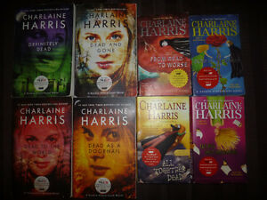 Lot of 8 asst. TRUE BLOOD novels by Charlaine Harris (used)