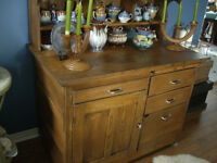 HOOSIER TYPE BAKING ARMOIRE WALNUT