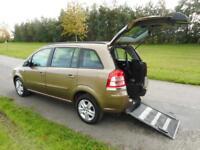 2013 63 Vauxhall Zafira Exclusive 1.8 4 Seats WHEELCHAIR ACCESSIBLE VEHICLE WAV