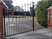 Brand new wrought iron driveway gates, various sizes available