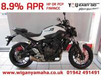 YAMAHA MT-07 ABS IN WHITE FOR 2018 REG, 0 MILES. HURRY, LIMITED STOCK...
