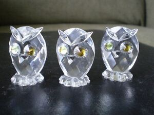 "Swarovski Crystal Figurines - "" Owls "" -  #7654 Kitchener / Waterloo Kitchener Area image 4"