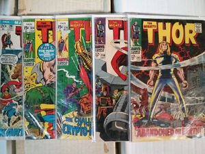 The Mighty Thor lot of 5 comics 145, 156, 174, 184, 196 $40