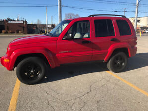 2002 Jeep Liberty 3.7L ,81000 km Limited Edition For sale